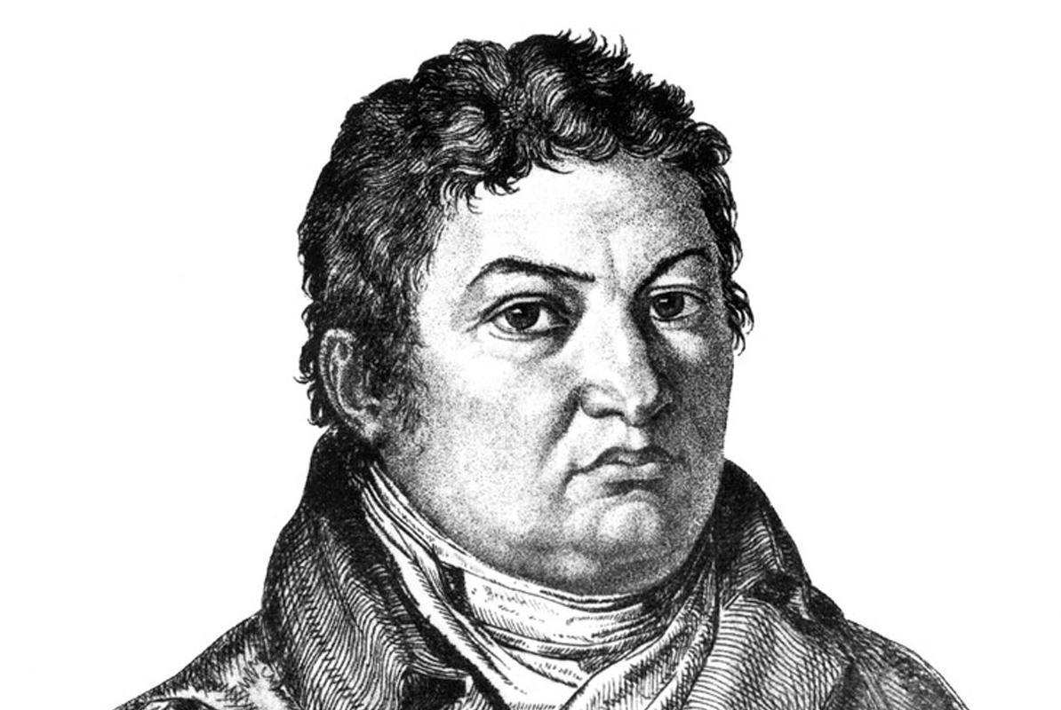 Oberbaudirektor Friedrich Weinbrenner; Stich von Theodor Iwanov, 1809; Foto: Landesmedienzentrum Baden-Württemberg, Urheber unbekannt