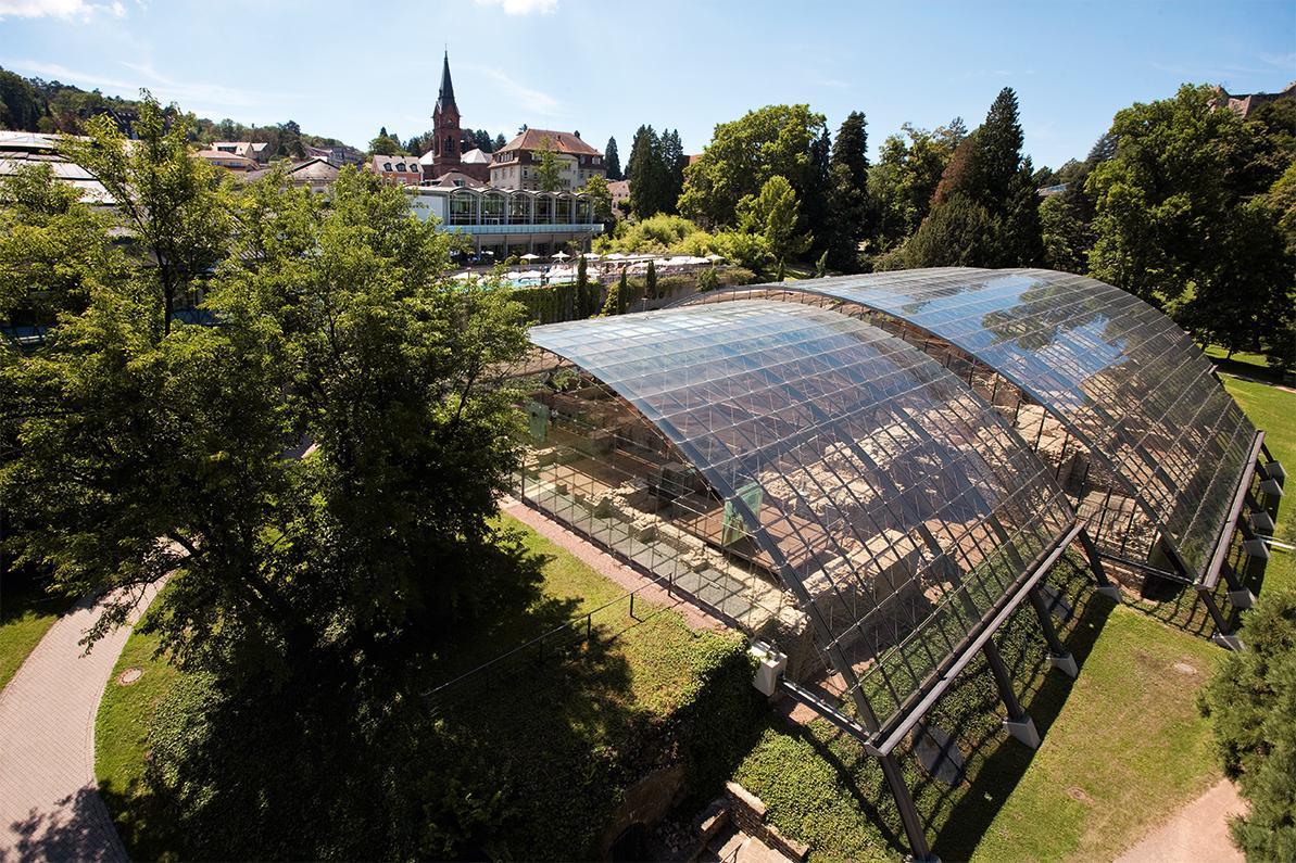 Badruine Badenweiler, Glasüberdachung der Badruine