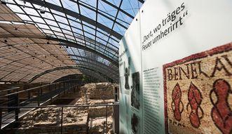 Badruine Badenweiler, Tafel der Dauerausstellung