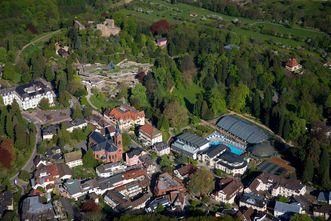 Badruine Badenweiler aus der Luft