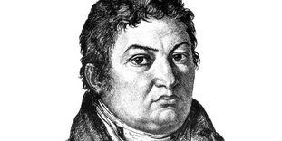 Oberbaudirektor Friedrich Weinbrenner, Stich von Theodor Iwanov, 1809