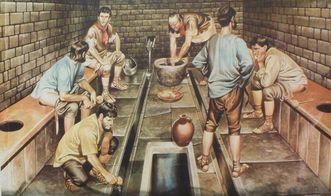 Rekonstruktion einer römischen Gemeinschaftslatrine