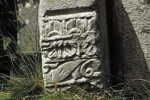 Reliefstein im westlichen Auskleideraum der römischen Badruine Badenweiler