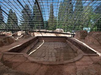 Vestiges des bains romains de Badenweiler, bassins ; l'image: Staatliche Schlösser und Gärten Baden-Württemberg, Achim Mende