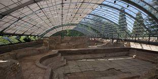 Innenansicht der römischen Badruine Badenweiler